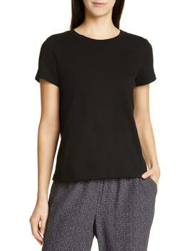 Crewneck Organic Cotton Tee by Eileen Fisher
