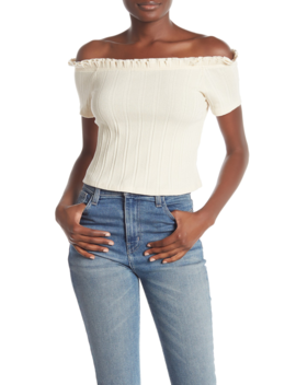 Off The Shoulder Ruffled Top by Codexmode