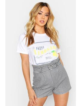 Petite Lemonade Slogan T Shirt by Boohoo