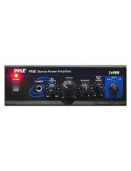 20 W 2 Ch. Power Amplifier   Black by Pyle