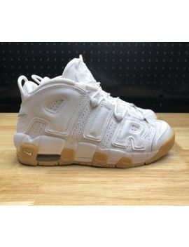 New Nike Air More Uptempo Gs Scottie Pippen Shoes 5.5 Y / 7 Women's White Gum by Nike