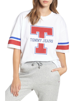 Tjw Football Logo Tee by Tommy Jeans