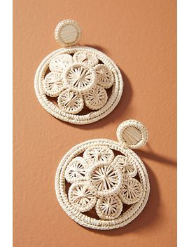 Luxchilas Straw Flower Drop Earrings by Luxchilas