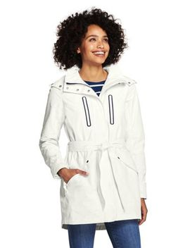 Women's Lightweight Belted Squall Raincoat by Lands' End