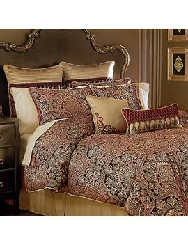 Croscill Roena Cal King Comforter Burgundy by Croscill