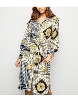 Urban Bliss White Scarf Print Midi Dress by New Look