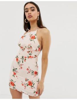 Fashion Union Cami Mini Dress With Lace Up Back by Fashion Union