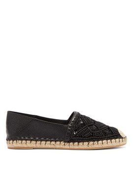 Marrakech Macramé And Leather Espadrilles by Valentino
