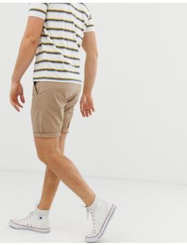 Asos Design 2 Pack Slim Chino Shorts In Stone &Amp; Navy Save by Asos Design