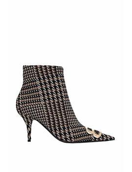 Balenciaga Women's 525975 W1 Hs02670 Brown/Black Fabric Ankle Boots by Balenciaga