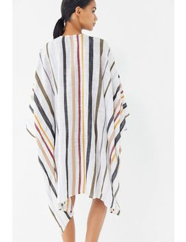 Uo Striped Linen Ruana by Urban Outfitters