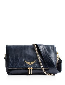 Rocky Crush Distressed Leather Crossbody by Zadig & Voltaire