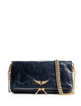 Rock Crush Distressed Leather Clutch by Zadig & Voltaire