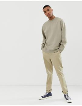 Asos Design Oversized Sweatshirt In Light Green by Asos Design