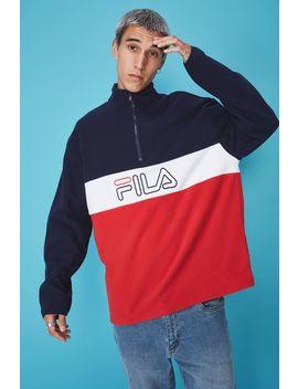 Fila Lcn Qtr Zip Polar Fleece by Cotton On