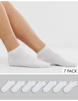 Asos Design 7 Pack Trainer Socks by Asos Design