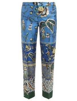 Ceo Floral Print Silk Trousers by F.R.S – For Restless Sleepers