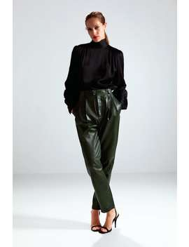 Limited Edition Leather Trousers Skinny Trousers Woman by Zara