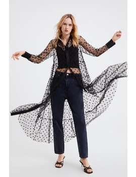 Polka Dot Tulle Dress Blouses Shirts by Zara