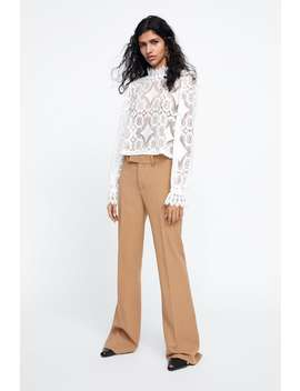 Combined Lace Top Topswoman by Zara