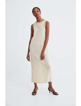 Textured Weave Dress Maxi Dresses Woman by Zara