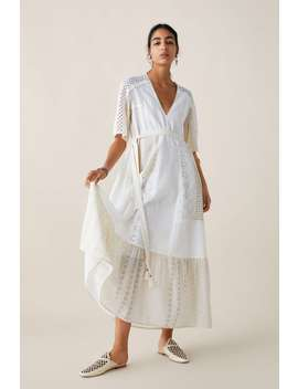 Limited Edition Zara Studio Dress With Cutwork Embroidery Studioshop By Collection Woman by Zara