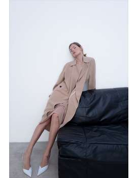 Flowing Trench Coat With Pockets Collection Timeless Woman Corner Shops by Zara