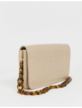 Glamorous Mock Croc Shoulder Bag With Chain Strap by Glamorous
