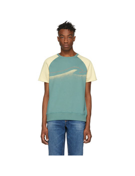 Off White & Green Colors Sune T Shirt by Nudie Jeans