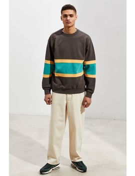 Uo Colorblock Crew Neck Sweatshirt by Urban Outfitters