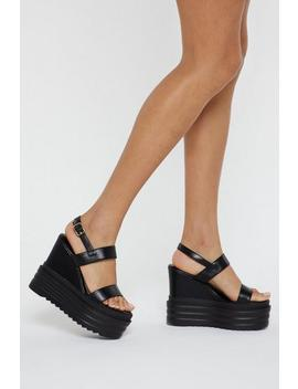 Chunky Sole Pu Wedges by Nasty Gal