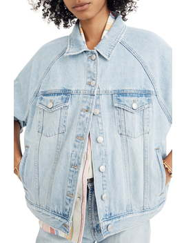 The Raglan Oversize Jean Jacket by Madewell