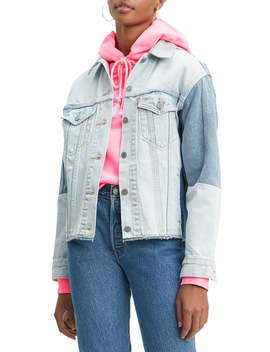 Ex Boyfriend Colorblock Denim Trucker Jacket by Levi's®