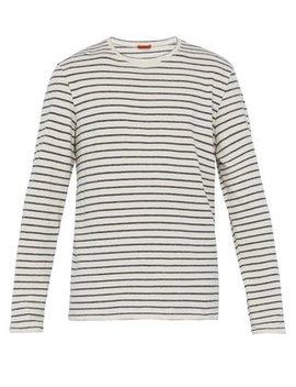 Striped Cotton Blend Long Sleeve T Shirt by Barena Venezia