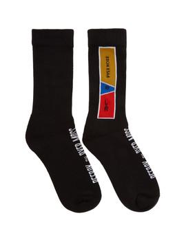 Black Crew Socks by Reebok By Pyer Moss