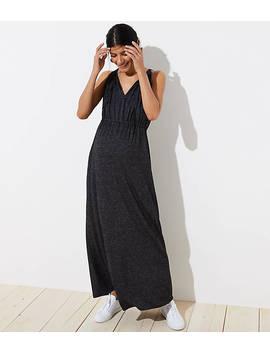 Maternity Tie Neck Maxi Dress by Loft