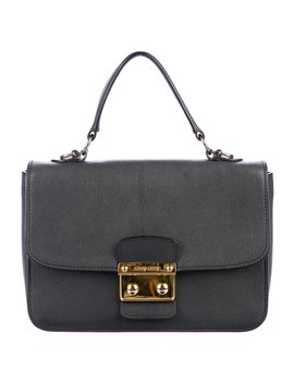 Grained Leather Satchel by Miu Miu