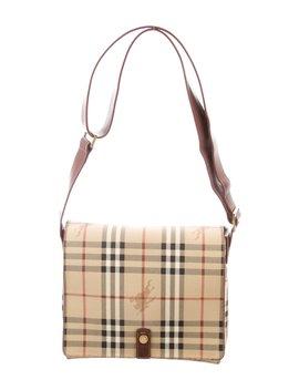 Haymarket Check Messenger Bag by Burberry