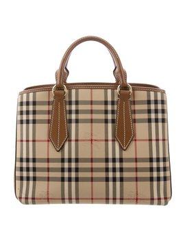 Medium Horseferry Check Ballingdon Bag by Burberry