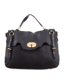 Grained Leather Bag by Miu Miu