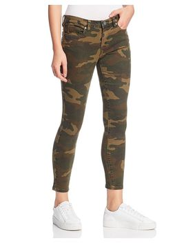 Camouflage High Rise Skinny Jeans In Scout by Blanknyc