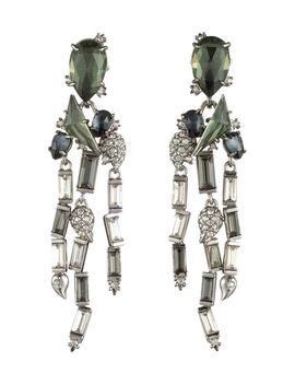 Crystal Baguette Fringe Earrings by Alexis Bittar