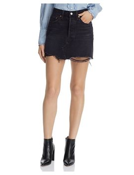Deconstructed Denim Mini Skirt In Ill Fated by Levi's