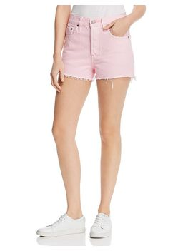501 High Rise Cutoff Denim Shorts In Light Pink by Levi's