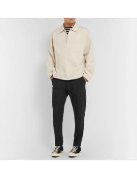 Black Slim Fit Stretch Tech Jersey Sweatpants by Folk