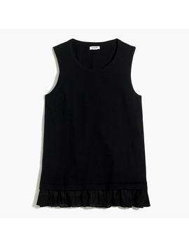 Sweater Tank With Woven Hem by J.Crew