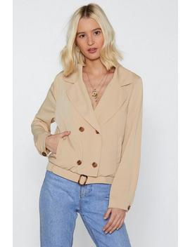 Power Through Double Breasted Jacket by Nasty Gal