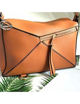 By Faux Tasche Farbe Ipad Amazon Geldbörsen Kontrast Handtaschen ShoptagrYoome Casual Umhängetasche Frauen Und Leder Boston Brown b7y6gYfv