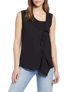Asymmetrical V Neck Shell by Halogen®