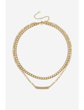**Chunky Bar Necklace by Topshop